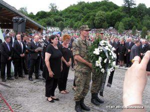 Obeležavanje godišnjice genocida u Srebrenici