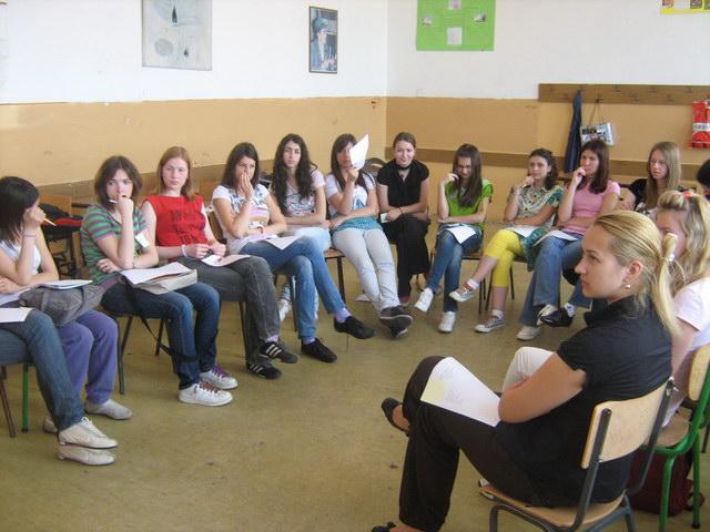 Udruzenje zena Pescanik - Druga radionica u Gimnaziji
