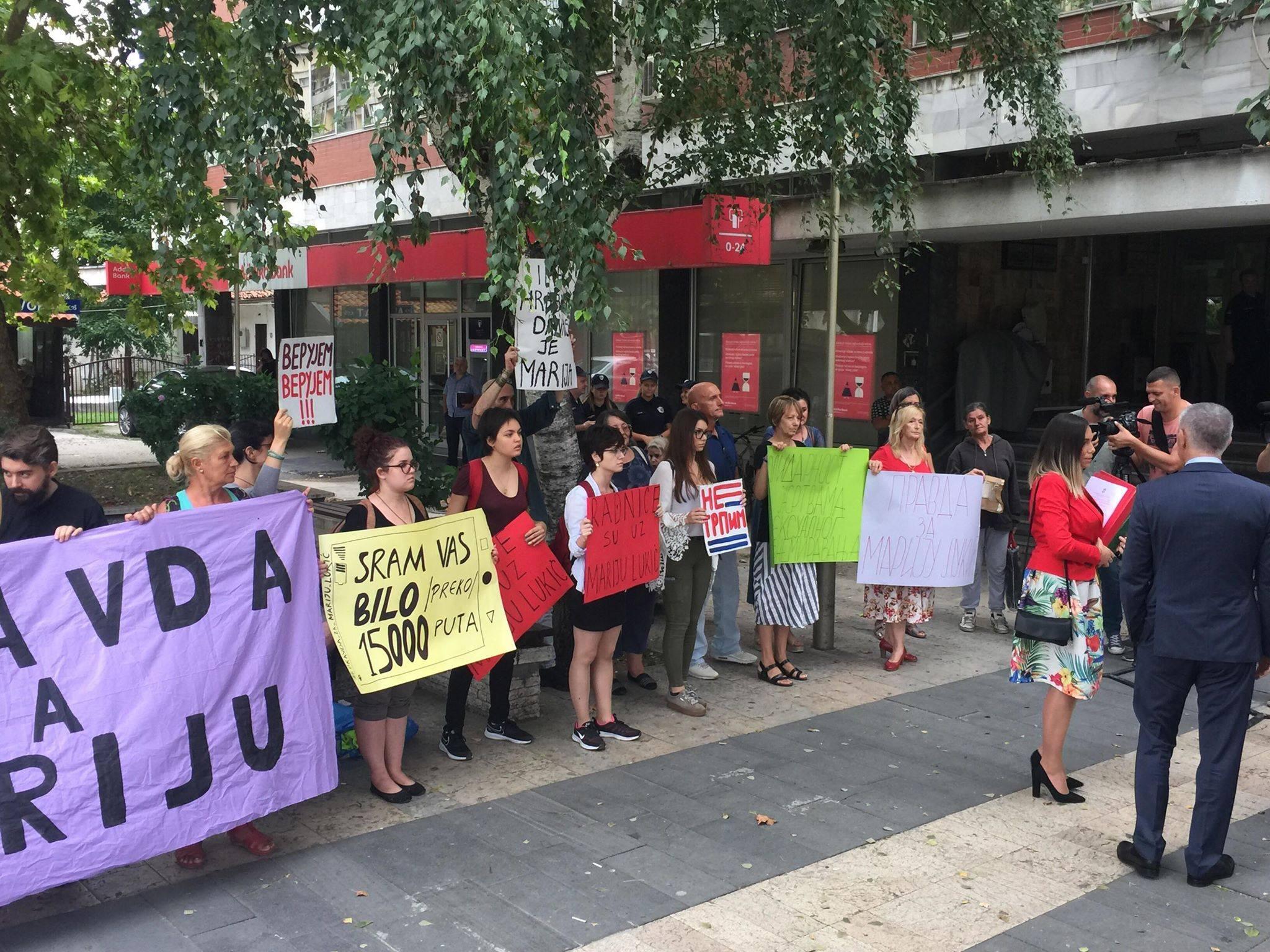 Udruzenje zena Pescanik - Solidarnost je naša snaga – Podrška Mariji Lukić
