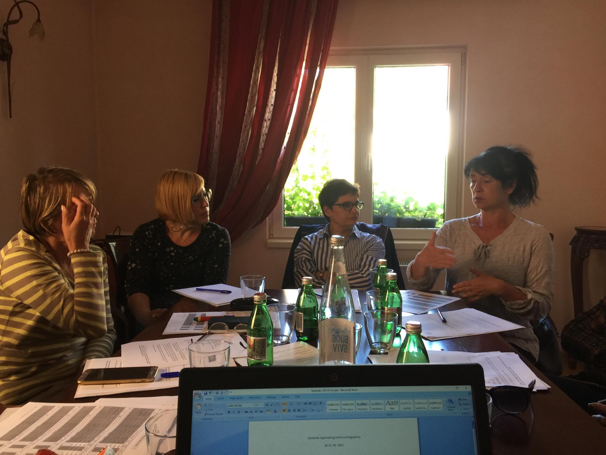 Udruzenje zena Pescanik - Sastanak regionalnog centra u Kragujevcu