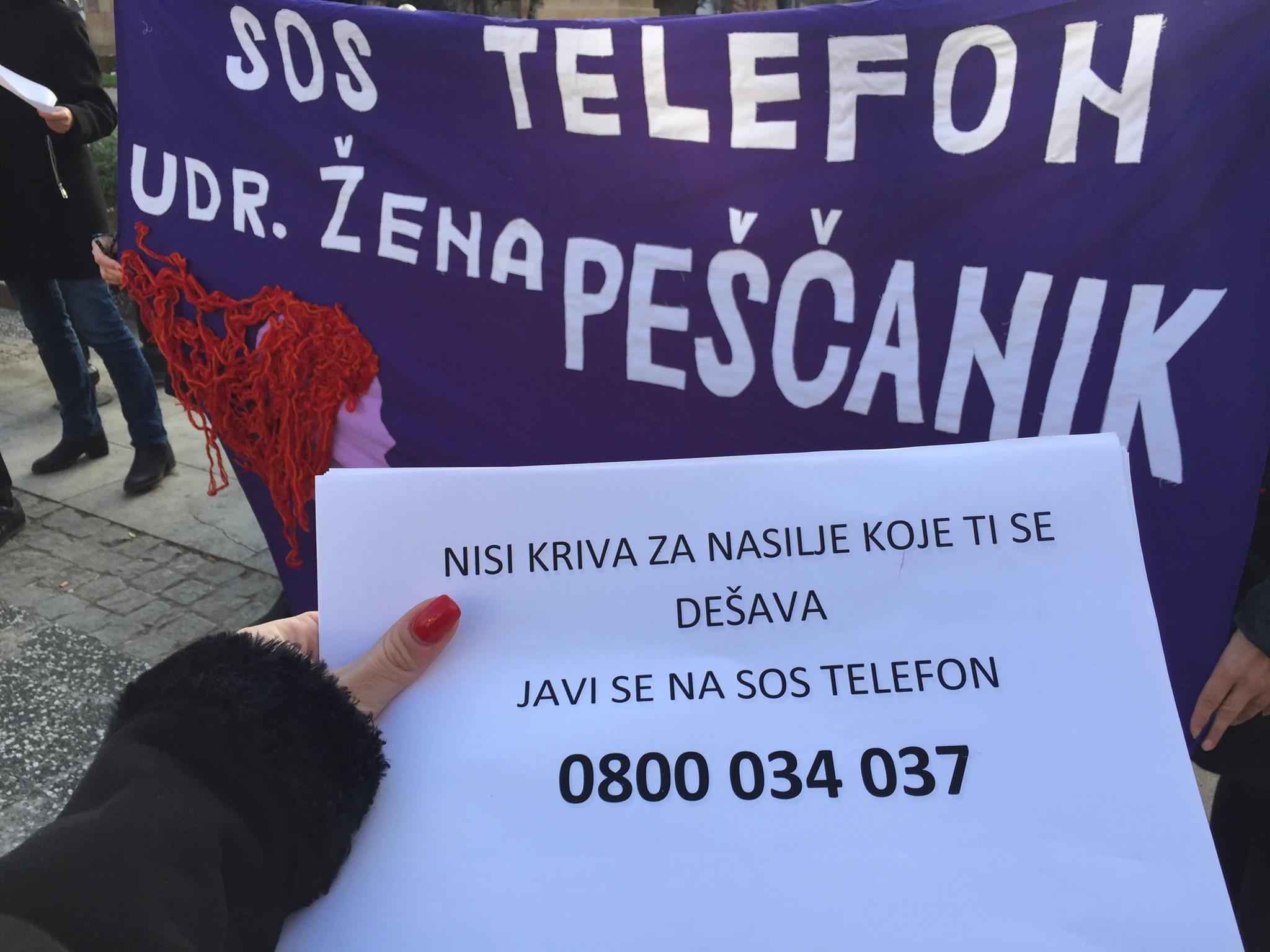 Udruzenje zena Pescanik - Ulična akcija povodom Međunarodnog dana borbe protiv nasilja nad ženama