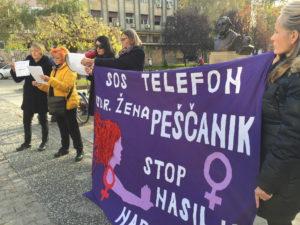 Ulična akcija povodom Međunarodnog dana borbe protiv nasilja nad ženama