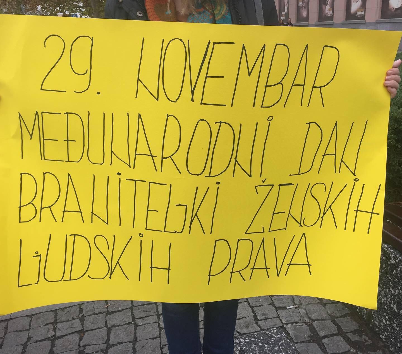 Udruzenje zena Pescanik - Međunarodni dan braniteljki ženskih ljudskih prava