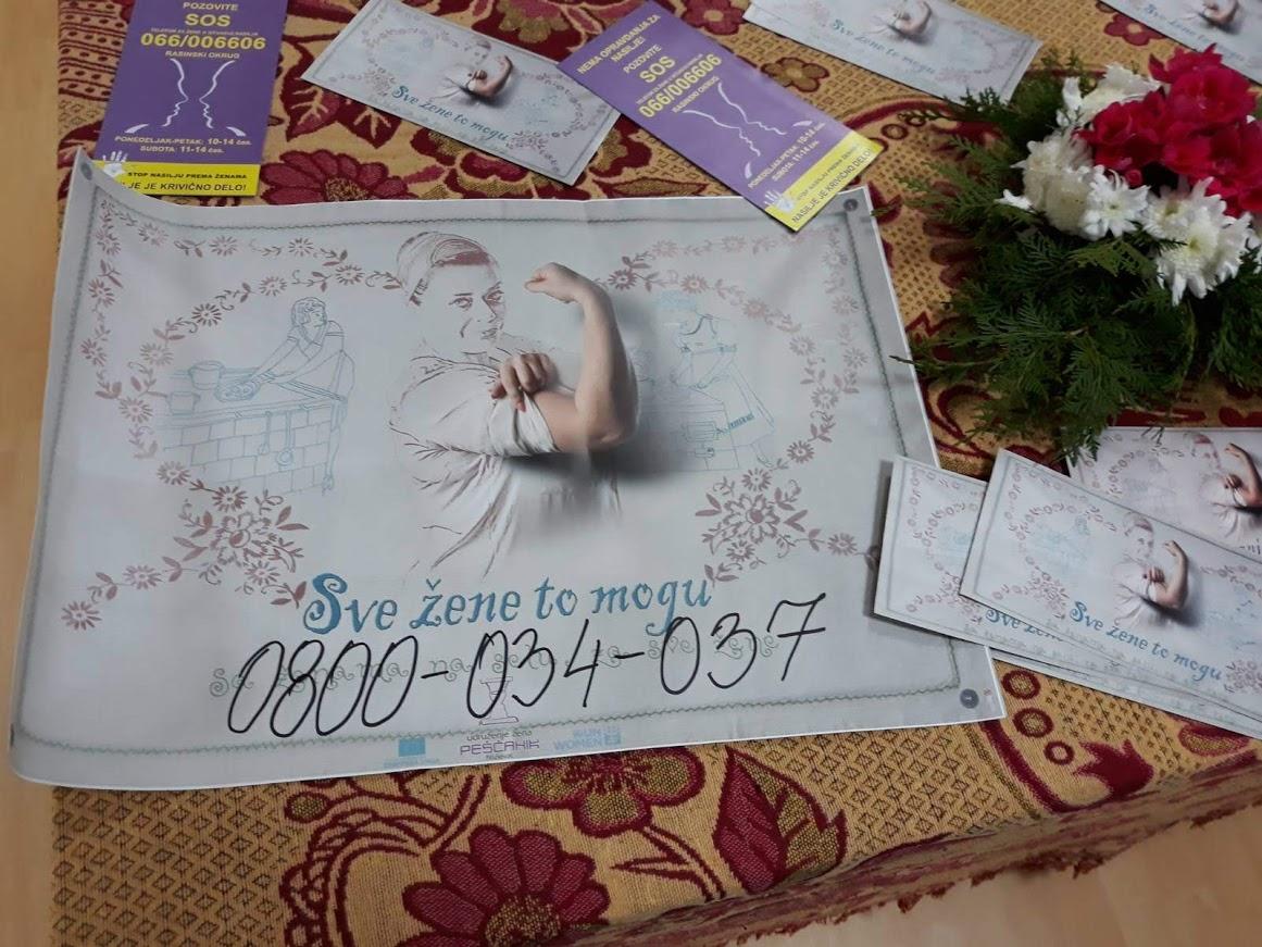 Udruzenje zena Pescanik - Rad na povećanju informisanosti žena u seoskim, prigradskim i romskim naseljima u Šumadijskom, Jablaničkom i Rasinskom okrugu o temi nasilja u porodici