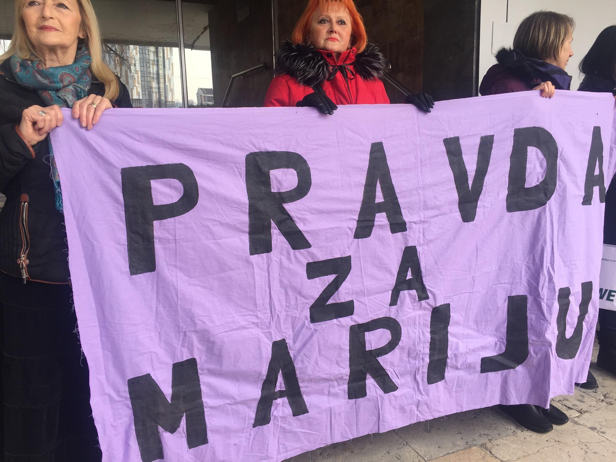 Udruzenje zena Pescanik - Skup podrške Mariji Lukić i svim ženama koje su preživele seksualno nasilje