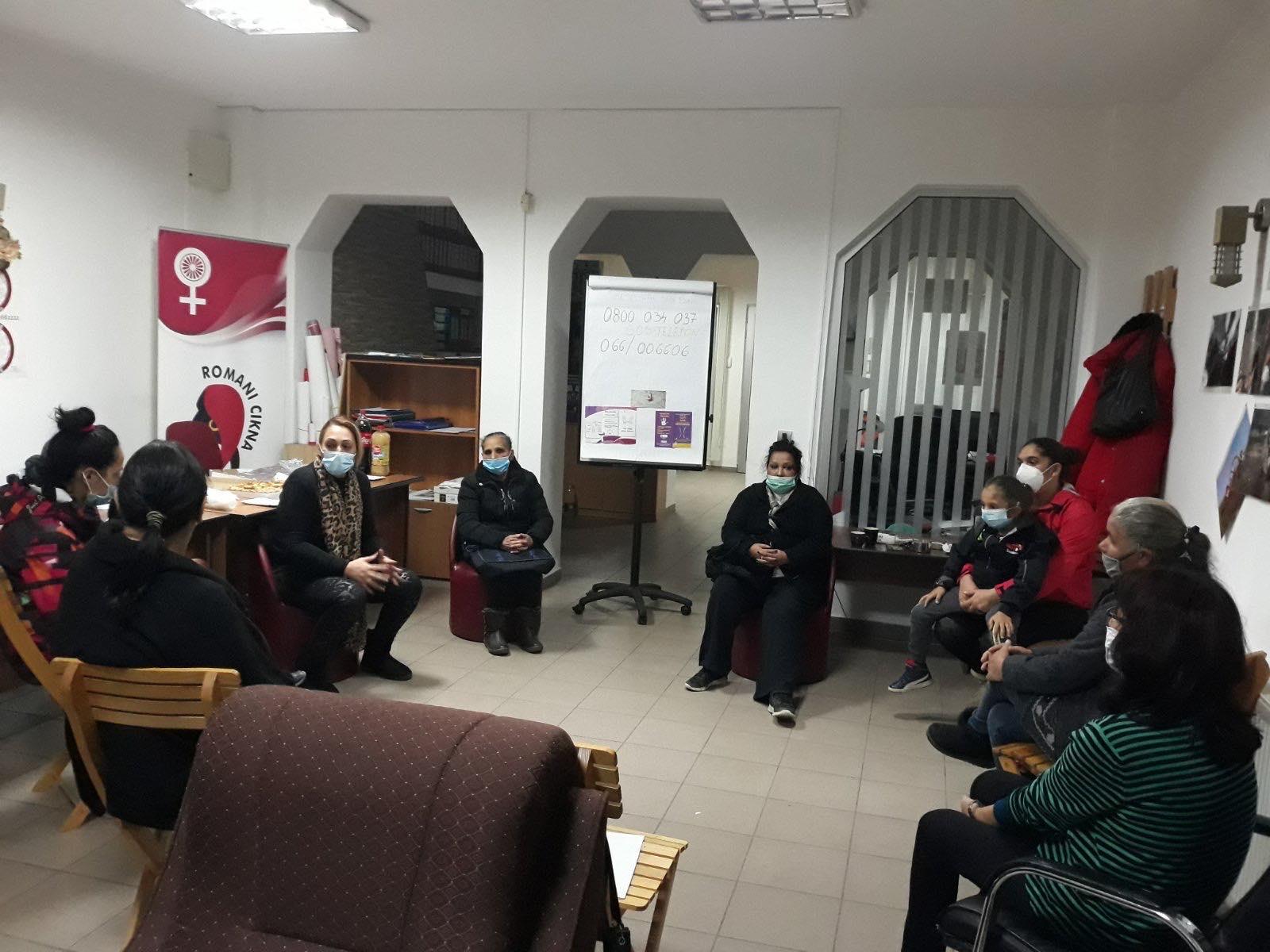 Udruzenje zena Pescanik - Radionica prevencije nasilja u porodici za žene iz romskih naselja