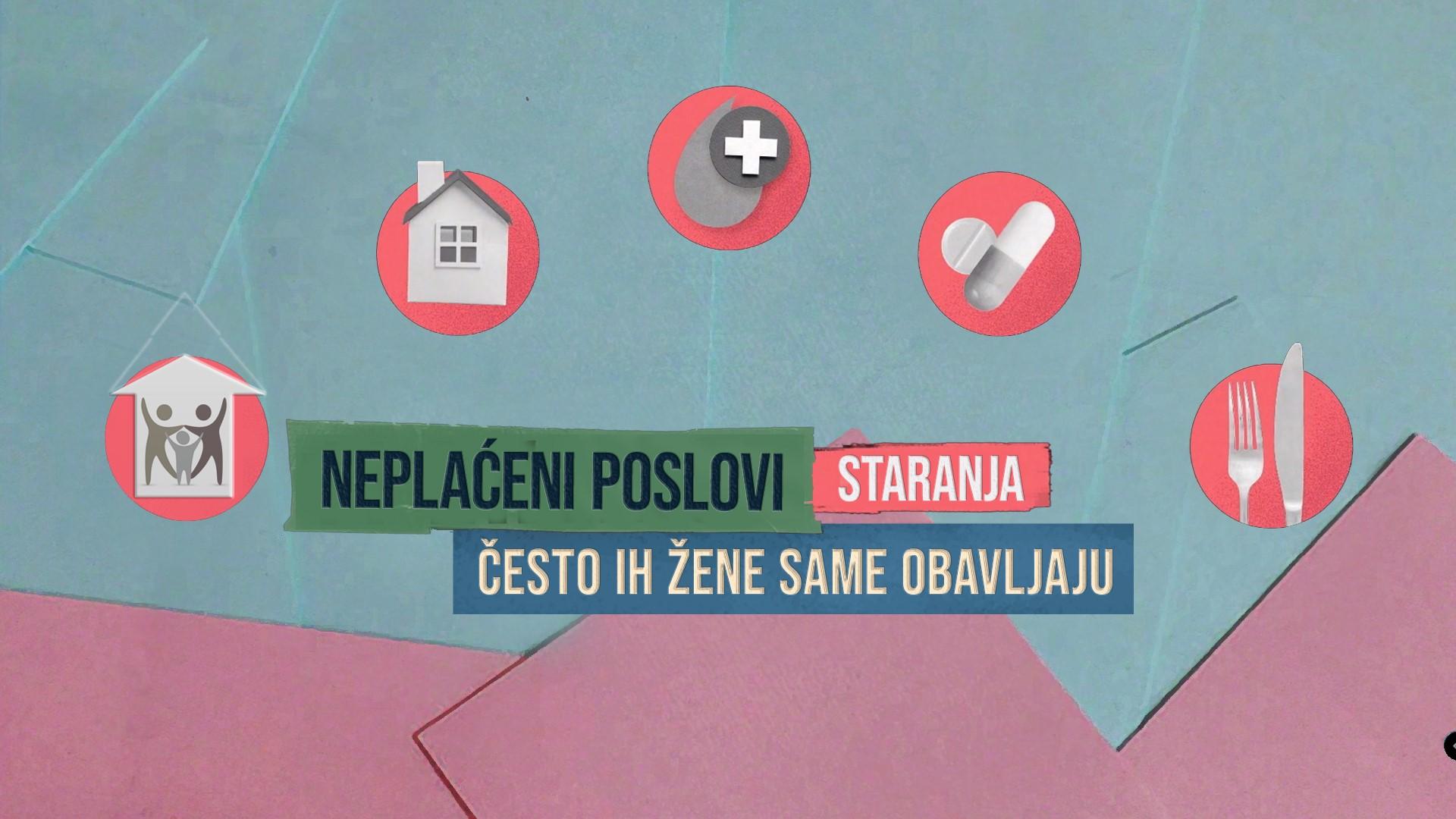 Udruzenje zena Pescanik - Poslovi staranja – Neplaćeni, a važni (TV spotovi)